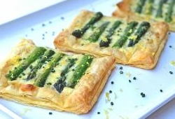 Asparagus and cheese tarts