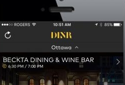 New DINR app in Ottawa