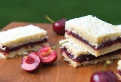 Cherry pie cookie bars