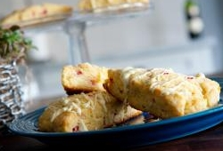 Lemon-rhubarb scones